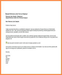Sample Reference Letters For Employee Emailers Co