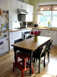 Eat In Kitchen Table Designs : Eclectic Kitchen Family Comes In Natural  Wood Trims In Kitchen ...