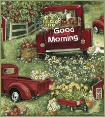 Pin by Kathie Holden on MORNING | Christmas red truck, Red truck ...