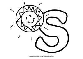 Small Picture Letter S Colouring Pages