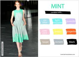 what colors match with mint green. Master The Art Of Mixing Springu0027s  Hottest Colors