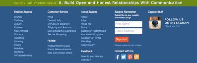 Zappos Conversion Chart The Heart Of Zappos Crm Internet Marketing