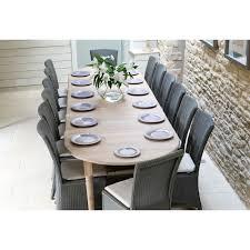 neptune sheldrake 165 365cm round extending oak table