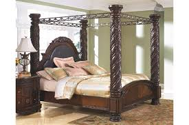 king size canopy bed ashley furniture. Wonderful Bed North Shore King Canopy Bed Dark Brown Large  To Size Bed Ashley Furniture HomeStore
