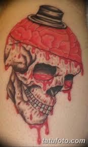 фото тату череп с кровью 19032019 052 Blood Skull Tattoo