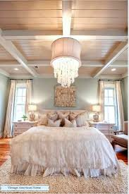 bedroom and more. Gorgeous Chandelier In Luxurious Bedroom, Coffered Ceiling. More At Vintage American Home. Bedroom And