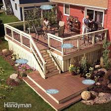 old deck with new decking and railings