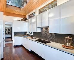 designs kitchen backsplash ideas modern  black graphic wavy backsplash