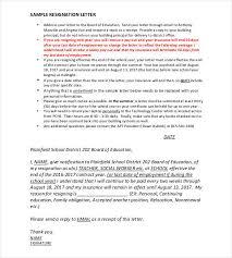 14 Teacher Resignation Letter Templates Pdf Doc Free Premium