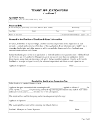 rent application form doc sample tenant application