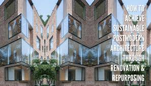 postmodern residential architecture. How To Achieve Sustainable Postmodern Architecture Through Renovation And Repurposing Residential