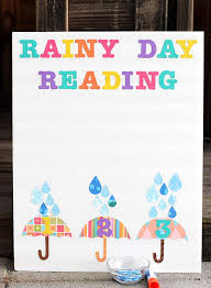 Rainy Day Chart Spring Reading Chart Happiness Is Homemade