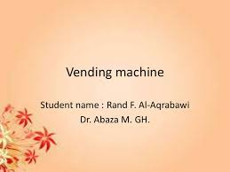 C Program For Coffee Vending Machine Extraordinary Vending Machine