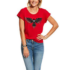 Ariat Womens Fly Away Tee At Amazon Womens Clothing Store