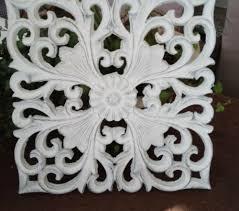 Mural Ornament Deco Shabby Chic Ornament 11 38x11 38in White