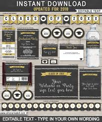 graduation party printables invitations and decorations editable and printable diy templates cl of