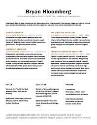 Assistant Designer Resume Modern Resume Templates 64 Examples Free Download