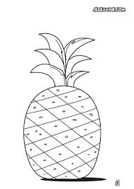 Coloriages Coloriage D Un Ananas Fr Hellokids Com