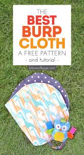 free burp cloth pattern and tutorial super absorbant and you can use fat quarters
