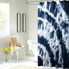 blue style tie dye waterproof friendly fabric shower curtain 2 sizes eco canada