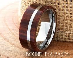 hawaiian koa wood wedding band flat high polished ring customized tungsten band mens ring mens wedding ring engraving wood wedding ring new 2400217