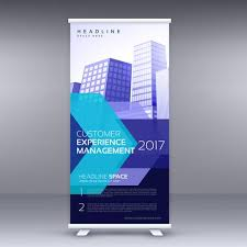 Business Banner Design Blue Business Roll Up Banner Design With Geometric Shape Download