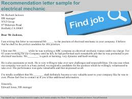 Letter Of Recommendation Mechanic Electrical Mechanic Recommendation Letter
