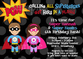 Birthday Invites Marvellous Superhero Birthday Invitations Ideas