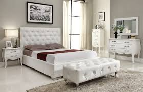 modern white brown leather bedroom furniture