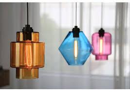 modern hand blown glass pendant light restaurant pendant