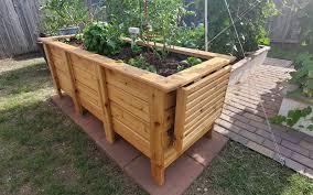 raised cedar garden planter woodworking