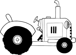 Free Coloring Sheets Of A Vintage Farm Tractor Bw