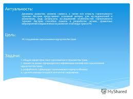 Презентация на тему Дипломная работа на тему Горнолыжные  2 Актуальность