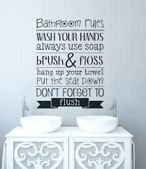 bathroom wall art stickers ebay