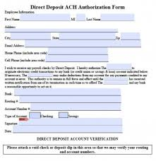 Direct Deposit Sheet Download Ach Direct Deposit Authorization Form Pdf Rtf Word