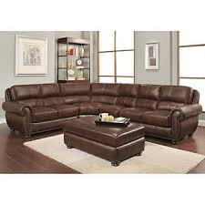 Leather sofa living room Shaped Austin Top Grain Leather Sectional With Ottoman Costco Wholesale Living Room Furniture Costco