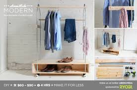 homemade modern diy garment rack postcard