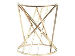 metal and glass side table bronze bars round frame top square outdoor rou