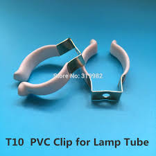 Clip On Fluorescent Light Covers Us 21 5 50 Pcs T10 Pvc U Clip Wedge Tube Lamp Base Strong Holder Connector Metal With White Cover Surface For Led Fluorescent Light In Lamp Bases