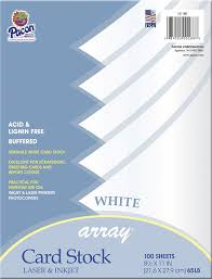 Amazon Com Pacon Card Stock 8 1 2 Inches By 11 Inches White
