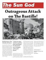 Victorian Era Newspaper Template Make A Newspaper On The French Revolution Or Napoleon Mr