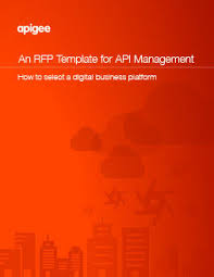 An Rfp Template For Api Management | Apigee