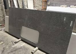 silver grey granite prefab stone countertops bar top easy cleaning images
