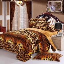 Tiger Skin Style Fashion Unique Bedding Set Winter Bedsheets
