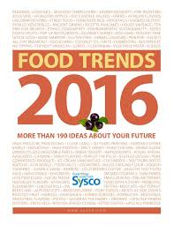 Sysco Menu Design Food Trends 2016 Someday A Restaraunt Food Trends 2016