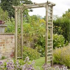 berkley garden arch with trellis side panels