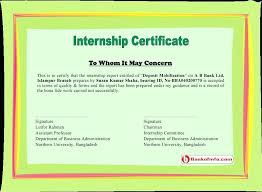 Fresh Engineering Internship Certificate Sample Internship