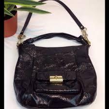 Coach Kristin Black Patent Leather Hobo Bag