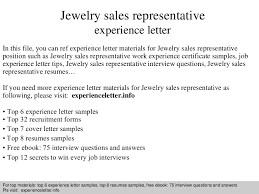 Ideas Of Jewelry Cover Letter Sample Jewelry Sales Representative