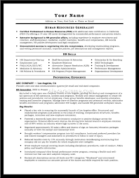 Cover Letter Human Resource Resume Samples Human Resources